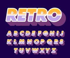 Style de l'alphabet rétro