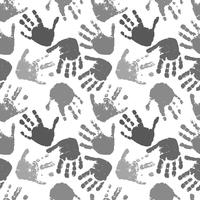 seamless vector pattern of prints of hands