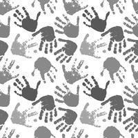 modello vettoriale senza soluzione di continuità delle stampe delle mani