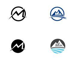 Ilustração em vetor logotipo montanha