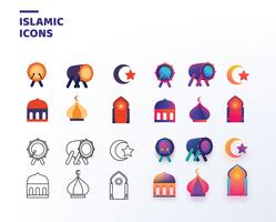 Islamic Icons Vector Pack