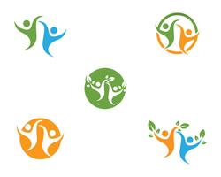 Gesundes Leben Logo Vorlage Vektor
