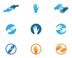 Hand Care Logo Template vector icon Business symbols