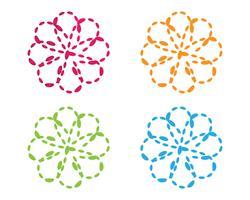 molecule infinity ilustration vector