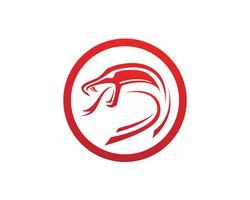 viper cobra elemento de design de logotipo. ícone de cobra de perigo. símbolo da víbora