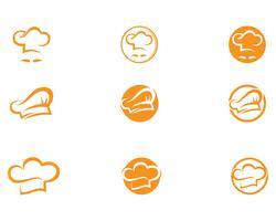 Hut Chef Logo und Symbole Vektor Vorlage