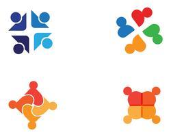 Community, nätverk och social ikon design mall.