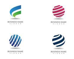 Global technology logos communication vector