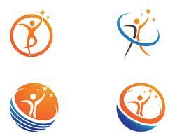 gente líder vector de logotipo y símbolos de éxito nave