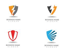 Shield  guard logo design vector shield
