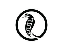 élément de conception de logo de serpent vipère. icône de serpent de danger. symbole de vipère