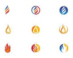Modèle de logo de feu vecteurs