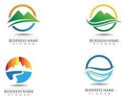 Logo et symboles de montagne