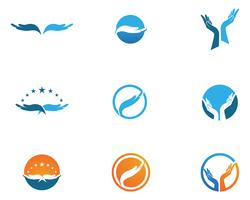 Hand Care Logo Template vector icon Business symbols