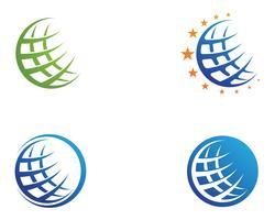 Icône du monde filaire Logo modèle illustration vectorielle