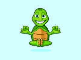 zen yoga Turtle Monk karaktärslogo maskot mönster