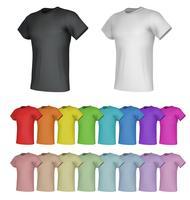 Effen mannelijke t-shirt sjablonen. Geïsoleerde achtergrond.