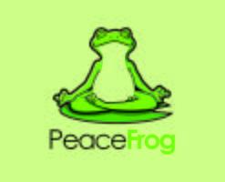 Zen Frog Character Maskottchen Yoga-Logo