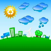 Green planet recycling, wind and solar energy