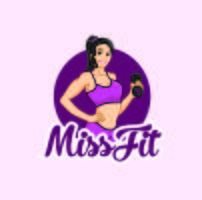 Fitness women character logo mascot designs