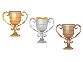 Winner cups isolated on white