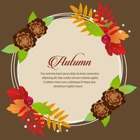 round autumn card foliage