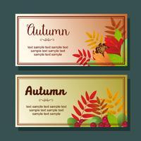 foliage autumn horizontal banner vector