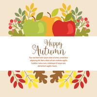 tuin herfst Thanksgiving vlakke stijl
