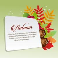 felice autunno con foglia fogliame