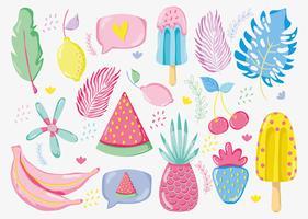 Punchy pastel fruit