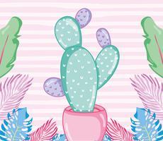 Punchy pastels cactus