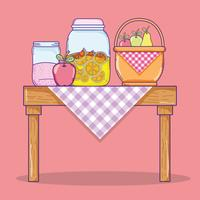 Succo d'estate e cibo