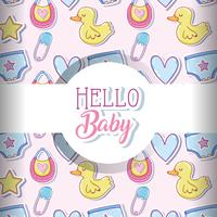 Baby love pattern background