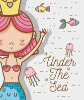 Little mermaid art cartoon