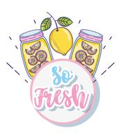 So fresh summer juice cartoon