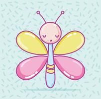 Linda mariposa de dibujos animados