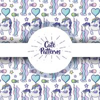 Cute patterns with doodles cartoons background vector