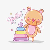 Cartão de amor do bebê