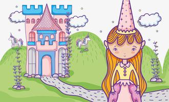 Little princess cute hand drawing cartoon
