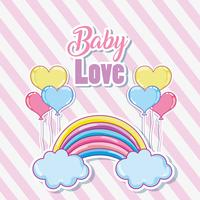 Carta di amore bambino carino