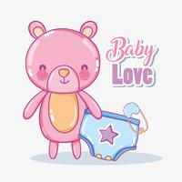 Carte d'amour bébé