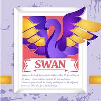 swan cut out av papper