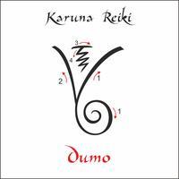 Karuna Reiki. Energieheilung. Alternative Medizin. Dumo-Symbol. Spirituelle Praxis. Esoterisch. Vektor
