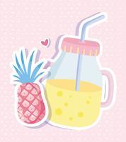 Juice mason jar punchy pastels vector