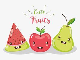 Lindos dibujos animados de frutas