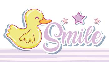 Smile message with cute cartoon