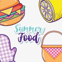 Summer food cartoons