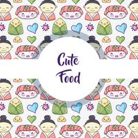 Japanese food background pattern