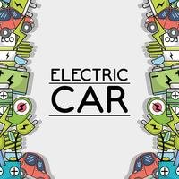 electric car technology to ecology care background