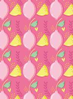 Lemons pattern background punchy pastel
